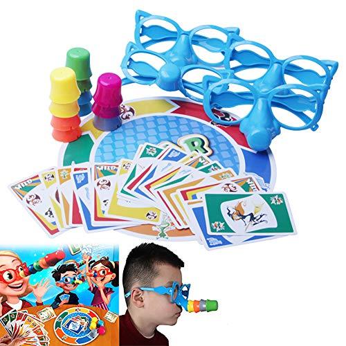 Hilai 1 Set Fibra Juego de Mesa Estirar la Verdad de Juegos Familiares Entre Padres e Hijos Juguete Creativo Interactivo Juego de Mesa para la Fiesta de Encuentro