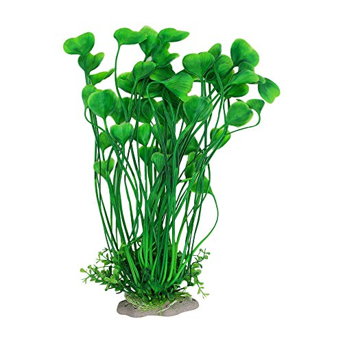 SENZEAL Aquarium Pflanzen Plastik Herzform Gras Wasser Gras Ornament Künstliche Unterwasser Pflanzen Fisch Tank Aquarium Dekor 1PC (Grün)
