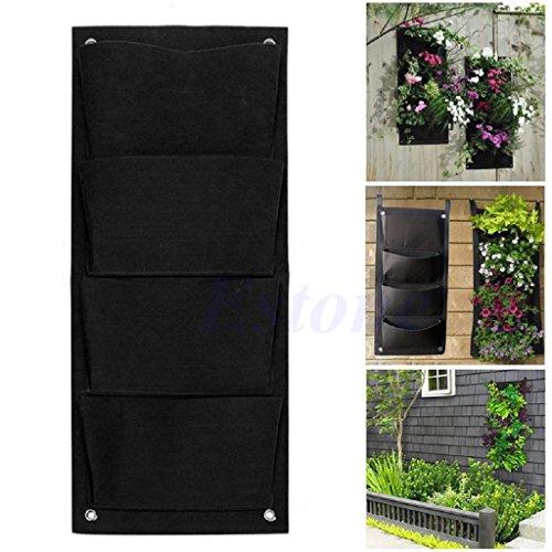 Cold Toy 4 Taschen-hängende vertikale Wand-Balkon-Kräutergarten-Pflanzer-Taschen im Freien Innen -