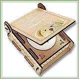 CANDLE IN THE BOX Patentante fragen | Mädchen | Geschenkbox mit Botschaft & Kerze | Personalisiert mit Foto & Namen | Willst du meine Patentante sein?
