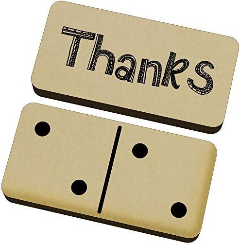 Azeeda 'Thanks' Domino Jeu et (DM00004479) Boîte (DM00004479) et B01N9BF5P9 e154e8