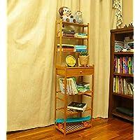 YATAI Wooden Bookshelf Bookcase Wood Storage Organizer Shelf Bamboo 7-Tier With Drawer Multifunctional Storage Rack Flowers Stand Bathroom Shelf Organiser Plants Stand Free Standing Shelves