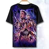 Avengers Endgame T-shirt Iron Man Thor Veuve Noire Hulk Capitaine America Thanos Marvel Comics Superheroes Enfants Adultes Taille Tee Top