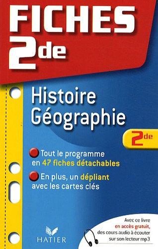 Histoire-Géographie 2de
