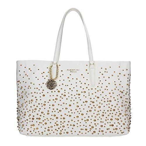 SCERVINO Street Large Shopping Bag STEPHANIE White