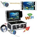 """Underwater Fishing Video Camera Kit, 7""""TFT HD 1000TVL con WiFi Wireless per iOS Android App Supporta la Registrazione Video e scattare Foto,50M"""