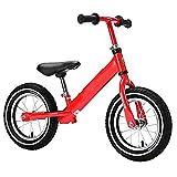 WENZHEN Draisienne Fille 2ans,Marche Formation Vélo Alliage D'aluminium Pas De Pédales Baby Walker Caoutchouc Roue Gonflable Doux Coussin Enfants Balance Vélo Rouge @ Rouge