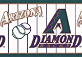 York Wallcoverings Arizona Diamondbacks MLB Baseball Team Fan Sport Wallpaper Border Modern Design, Roll-15' x 7''