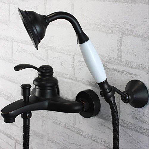 Oudan Wasserhahn Kupfer Wasserhahn, Schwarze Vintage Badewanne Wasserhahn, Booster Dusche In Wand, Badewanne Wasserhahn, (Farbe : -, Größe : -) (Vintage-kupfer-badewanne)