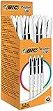 Bic Penna Cristal Bicolor, Scatola con 20 Pezzi, Nero