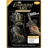 Royal & Langnickel Gold Engraving Art A4 Gold African Animals Designed Painting Set (Pack of 3)