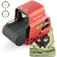 WorldShopping4U Airsoft táctico holográfico 558 Nuevo rojo y verde Dot Sight Scope rojo