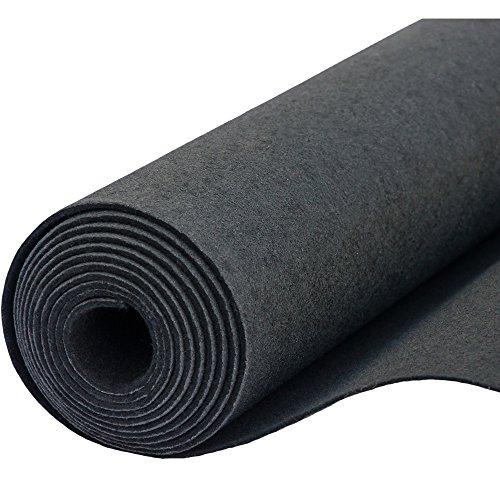 Filz, Filzstoff, Dekorationsfilz, imprägniert, Breite 100 cm, Dicke 4 mm, Meterware 0,5 lfm – schwarz