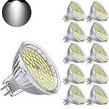 Yafido 10er GU5.3 LED Neutralweiß MR16 12V 5W Ersatz für 35W Halogen Lampen GU5.3 4500K 400 Lumen Kaltweiß Birne Leuchtmittel 120°Abstrahwinkel Spot Nicht Dimmbar Ø50 x 48 mm