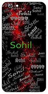 Sohil (Beautiful) Name & Sign Printed All over customize & Personalized!! Protective back cover for your Smart Phone : Moto X-Play