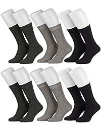 Tobeni 6 Paires de Chaussettes de Sante pour Homme en Coton tout sans Caoutchouc