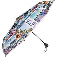 Paraguas automático de Viaje Perletti - Práctico para Llevar en el Bolso o la Mochila -