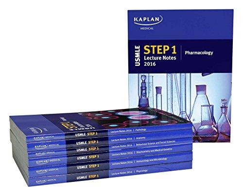 USMLE Step 1 Lecture Notes 2016: 7-Book Set (Kaplan Test Prep)