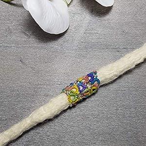 Dreadschmuck, Haarschmuck für Dreadlocks, 1 Stk. 13 mm, Tatting, Occhi, Hippie, Goa, Festival