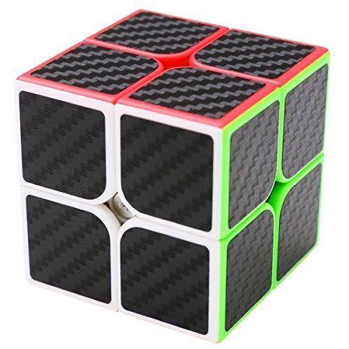 Coolzon® Speed Cube Würfel Carbon Faser Aufkleber Neue Geschwindigkeits Super Schnell und Glatt ()