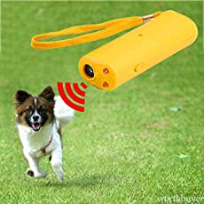 AST Works Ultrasonic 3 in1 Anti Bark Device Dog Training Repeller Stop Barking Device Q3GN