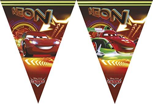 Party-Dekoration mit Neon Cars Aufdruck ()