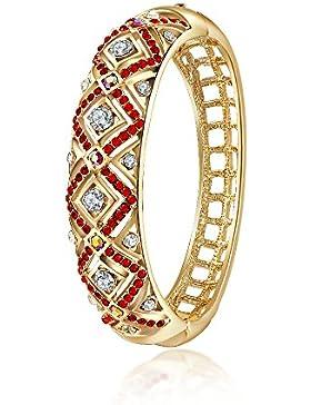 City Ouna® 18K Rose Gold plattiert roten Kristall Armband für Frauen Swarovski Elementen Damen Mädchen Manschette...