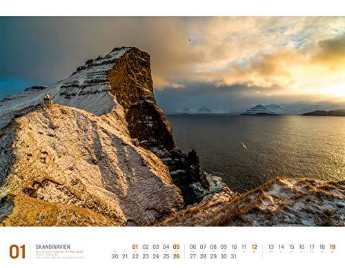 Skandinavien 2020, Wandkalender im Querformat (54x42 cm) - Reisekalender Norwegen, Schweden, Finnland, Dänemark und Island mit Monatskalendarium (Reisen mit allen Sinnen): Alle Infos bei Amazon