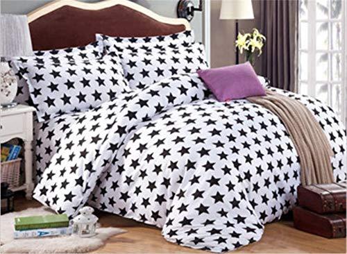 2019 Quilt * 1pc Sheet * 1pc Kissenbezug * 2pcs Full Queen King Size Bettwäsche-Set Bettbezüge Bettwäsche-Sets (Color : Weiß, Size : Queen) - Daunendecke Queen-size-weiße