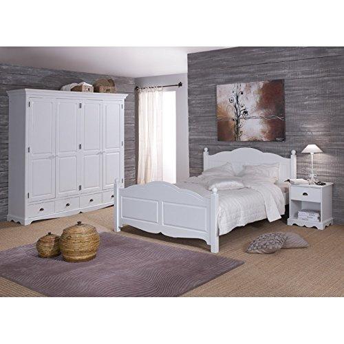 Beaux meubles pas chers bei mobili non onorevoli–camera bianca completa letto 140+ armadio + comodino