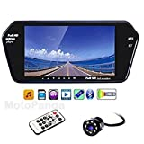 MotoPanda - 7 Inch Full HD Bluetooth LED Screen + 8LED Reverse Camera for Cars