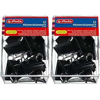 41mm Vielzweckklammern 24 Herlitz Foldbackklammern schwarz Farbe