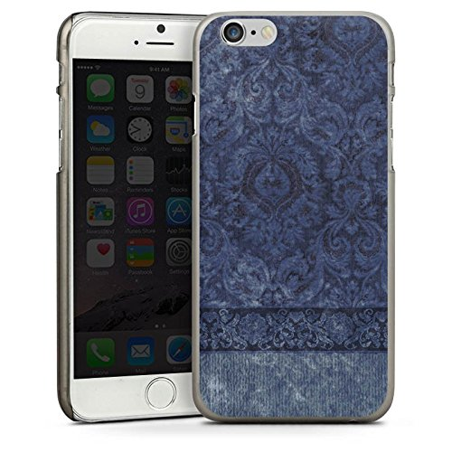 Apple iPhone 4 Housse Étui Silicone Coque Protection Ornements Motif Motif CasDur anthracite clair