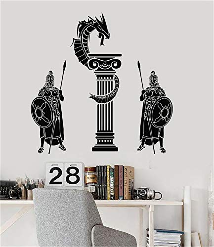 wandaufkleber selbst gestalten Antike Griechenland-Krieger Dragon Boy Room