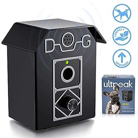 ULTPEAK Antibell Halsband, Ultraschall Hundeabwehr, Wasserdichter Bellenstopper für den Innen- und Außenbereich, Sicher für Hunde