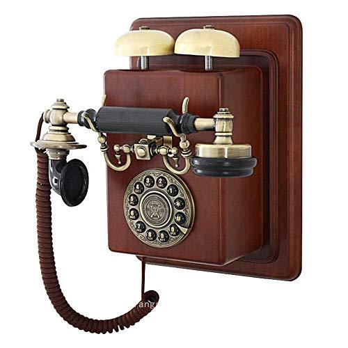 Uioy Festes Telefon/Wandmontage/Antiktelefon/Retro-Modetelefon (Color : Brown) (Wand-schnurlos-telefon)
