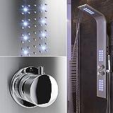 POPSPARK Doccia Schermo LED Illuminazione Doccia Colonna termostato Doccia Maniglia Asta Doccia Regolabile in