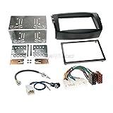 Toyota RAV4 06-13 2-DIN Autoradio Einbauset in original Plug&Play Qualität mit Antennenadapter, Radioanschlusskabel, Zubehör und Radioblende/Einbaurahmen schwarz