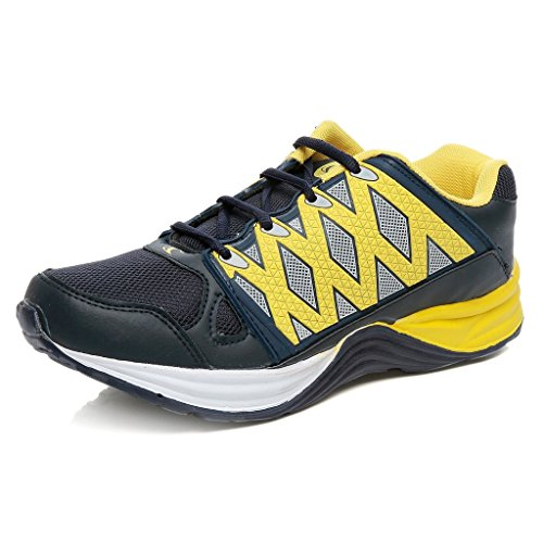Combit Blue and Yellow Sport Shoes for Men