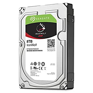 Seagate IronWolf 8 TB 3.5 inch Internal Hard Drive for 1-8 Bay NAS Systems (7200 RPM, 256 MB Cache up to 210 MB/s, 180 TB/Year Workload Rate)