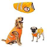 ALAMP Hohe Sichtbarkeit Hund Reflektierende Warm Weste Bekleidung, kleine bis extra großer Hund Sicherheit Jacken orange