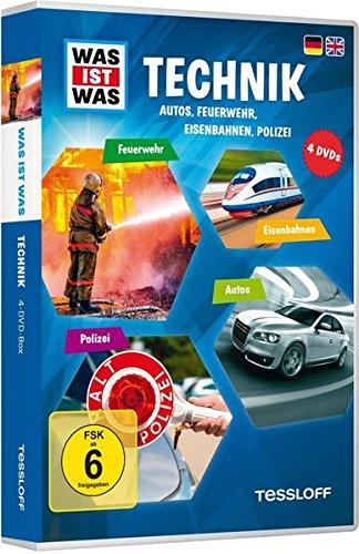 Was ist was: Technik - Autos, Feuerwehr, Eisenbahnen, Polizei [4 DVDs] (Cd Y Dvd Für Auto)