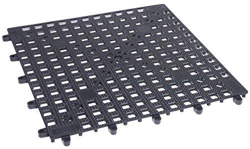 Gläserabtropfmatte aus schwarzem Polyvinylchlorid (PVC), zur Erweiterung aneinander steckbar / Größe: 33 x 33 cm | ERK
