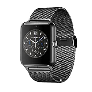 Vell-tech New Z50 Smart Watch Phone Bluetooth GSM NFC G-sensor Camera 1 SIM Card Pedometer Sedentary Reminder Call SMS SyncBluetooth smart watch, Wrist, Clock, Fitness track, Men women watch smartwatch for Android For iPhone 5 6 6S Samsung Galaxy S5 S6 Edge nokia acer Htc Honour Mi Apple Note 4 5 All Android Smart phone