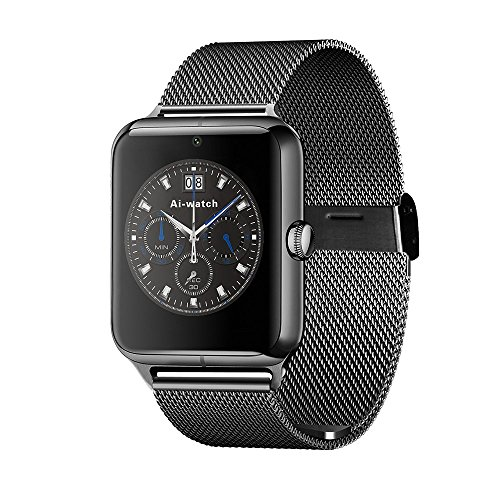 Vell-tech New Z50 Smart Watch Phone Bluetooth GSM NFC G-sensor Camera 1 SIM Card Pedometer Sedentary Reminder Call SMS SyncBluetooth smart watch, Wrist, Clock, Fitness track, Men women watch smartwatch for Android For iPhone 5 6 6S Samsung Galaxy S5 S6 Edge nokia acer Htc Honour Mi Apple Note 4 5 All Android Smart phone  available at amazon for Rs.5299