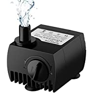 Maxesla Submersible Pump 80 GPH (300L/H) Fountain Water Pump For Pond/Aquarium/Fish Tank/ Statuary/Hydroponics with 4.92ft (1.5M) Power Cord