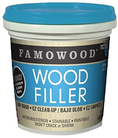 FAMOWOOD Latex Wood Filler - Cherry/Dark Mahogany - Pint (473mL) by Eclectic Products, Inc.