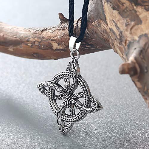 b11e05a5a9d29 DTKJ Men Viking Overcoming Grass Slavic Amulet Fern Flower Pendant Necklace  Love Knot Amulet Jewelry