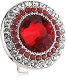 Swarovski Damen-Charm Metall Kristall Solitaire Clip rot 1.4 x 1.4 cm 5002663