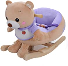Natsen Schaukelpferd Schaukeltier Plüschschaukel Kinderspielzeug Schaukel (Teddy Bär)